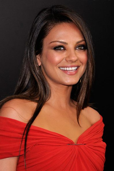 Mila Kunis Smoky Eyes and Shiny Brown Hair. Mila Kunis Beauty - StyleBistro