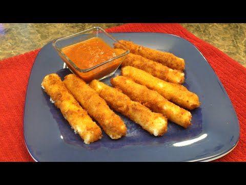 Palitos de Queso Fritos (Fried Mozzarella cheese Sticks)