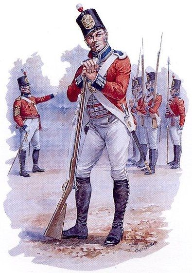 Soldier, 10th Royal Veteran Battalion, circa 1812 The Royal Veteran Battalions were units of garrison troops, made up of older soldiers still able to stand guard and give other useful service. The 10th Battalion was raised in 1806 for service in Canada. Although not intended to serve in the field, the veterans were the only regular troops at Fort St. Joseph at the start of the War of 1812, and were part of the British surprise attack that captured the American Fort Mackinac.
