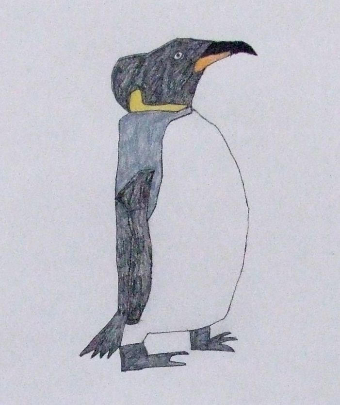 A penguin drawn by a member of the group.