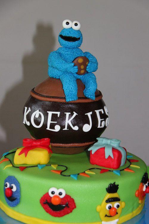 3D taarten - Koning Kikker Cookie Monster cake
