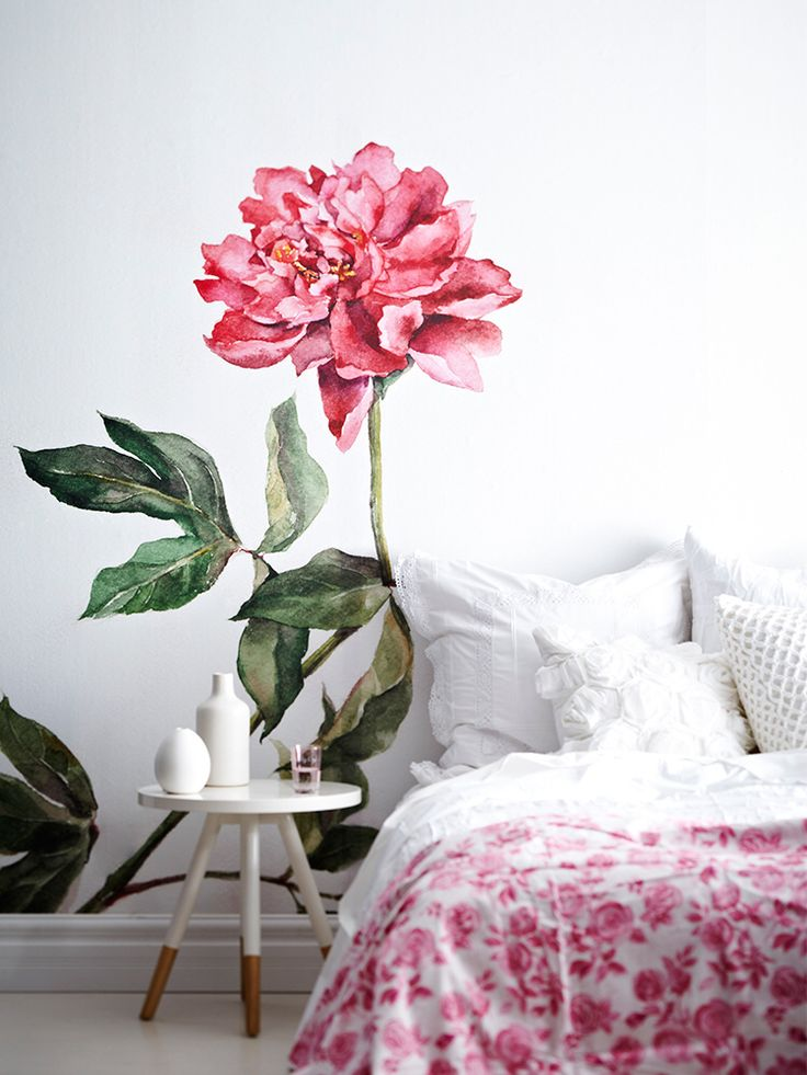 Best 25 flower mural ideas on pinterest painted wall - Flower wallpaper mural ...