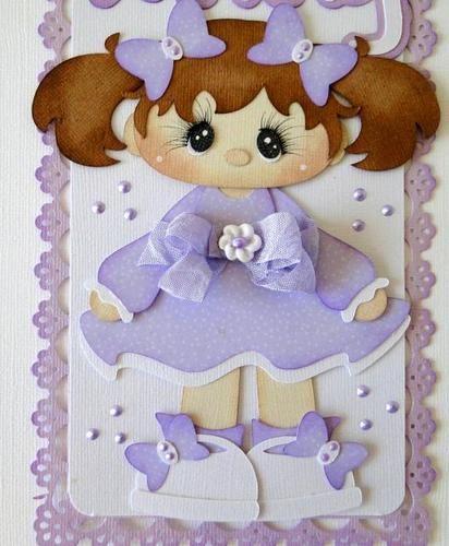 Vertical Border Little Darling Girl Scrapbooking PreMade danderson651