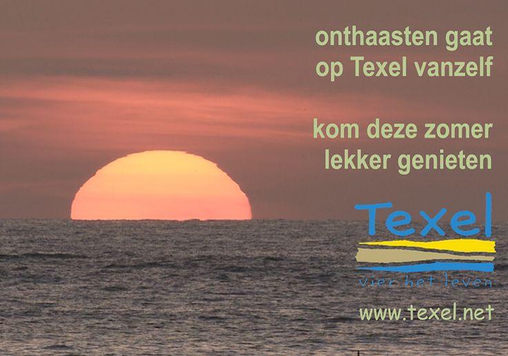 Genieten op Texel.