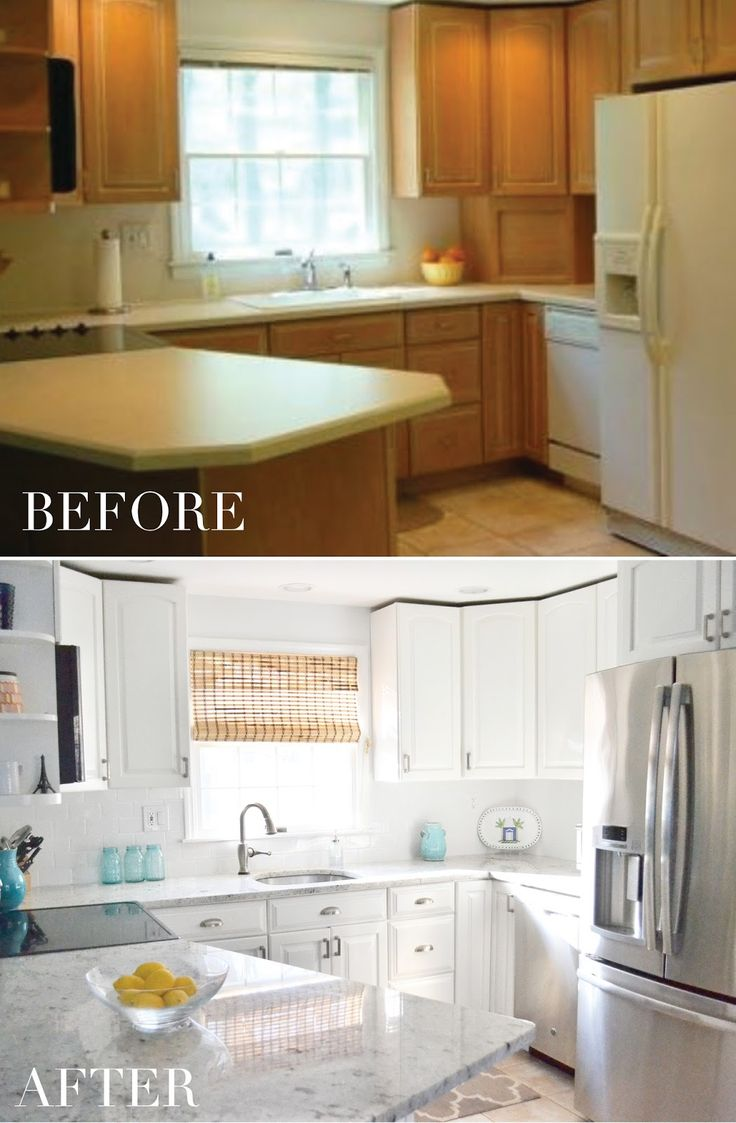 A budget-friendly kitchen transformation from dull TO BRIGHT WHITE! White  Kitchen, Painted. Cabinet TransformationsRustoleum ... - Best 25+ Cabinet Transformations Ideas On Pinterest Refinished