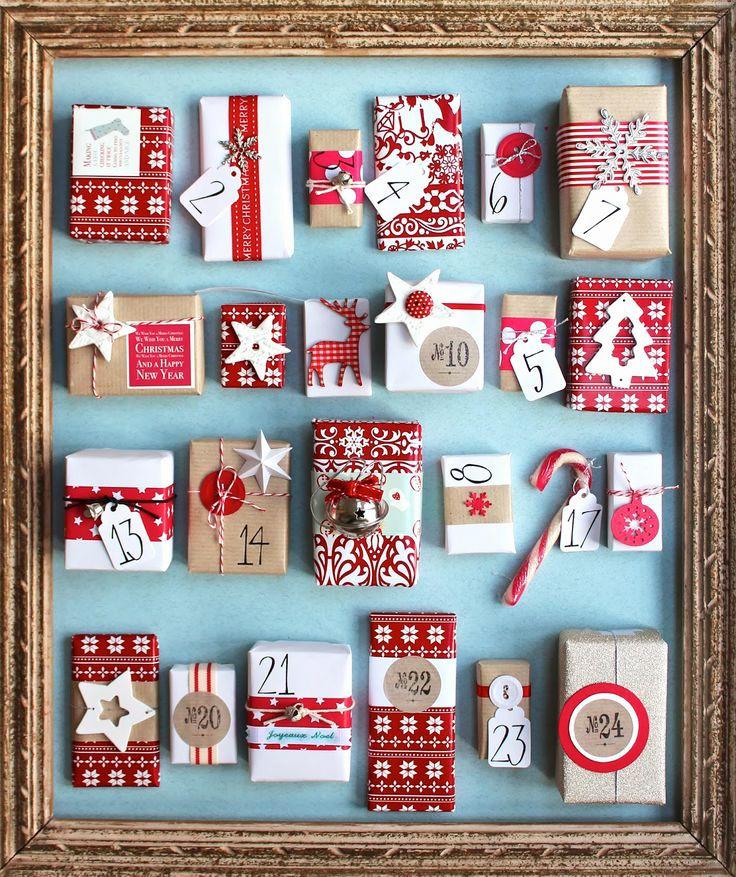 Rendi speciale l'attesa del Natale creando un calendario dell'avvento fai da te con materiale di riciclo. #Natalebio www.ecomarket.bio