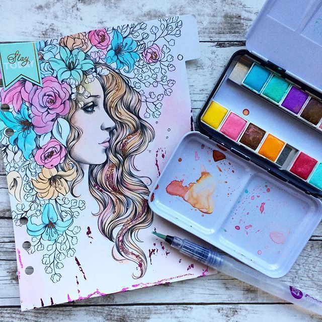 Prima Princess coloring dividers for planners? Yes! And they're gorgeous! I…