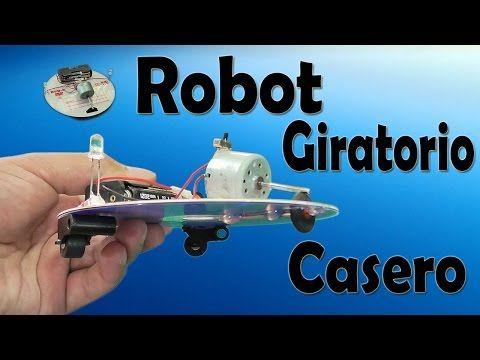 Robot Giratorio Casero Con Leds (muy fácil de hacer) - YouTube