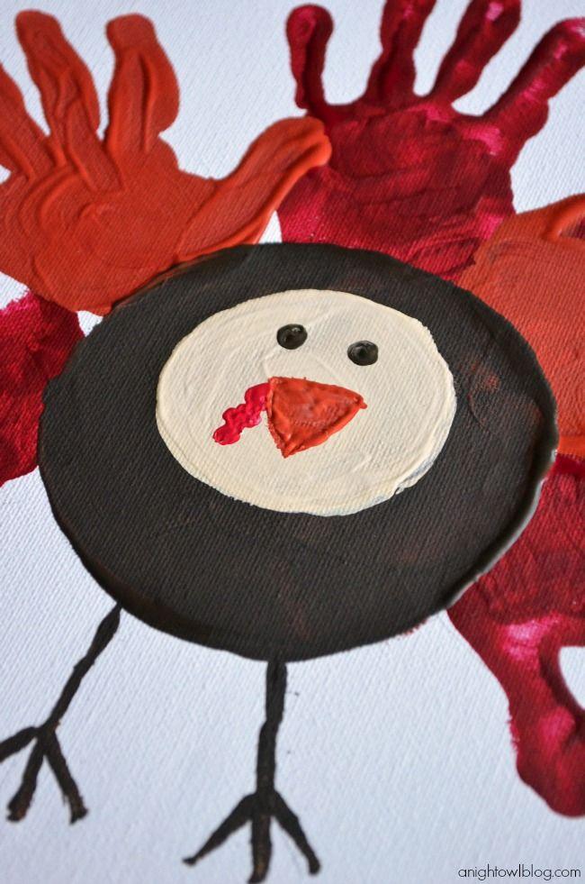 Easy Handprint Turkey Craft