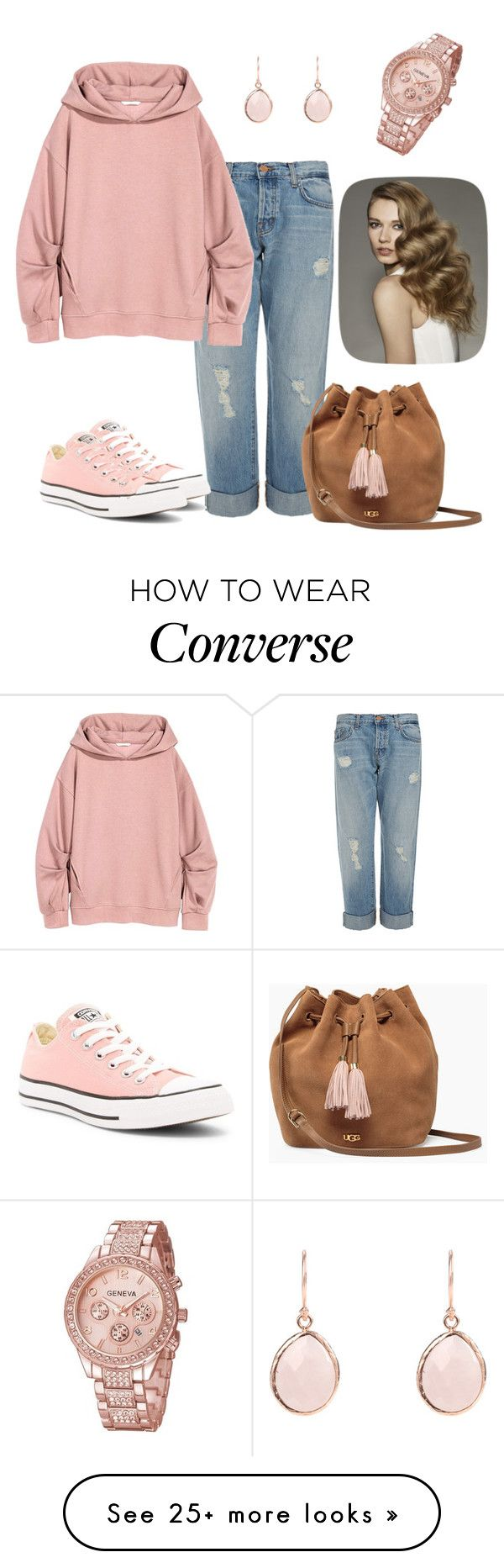 """Untitled #543"" by sylvia-tall on Polyvore featuring J Brand, Converse and UGG"