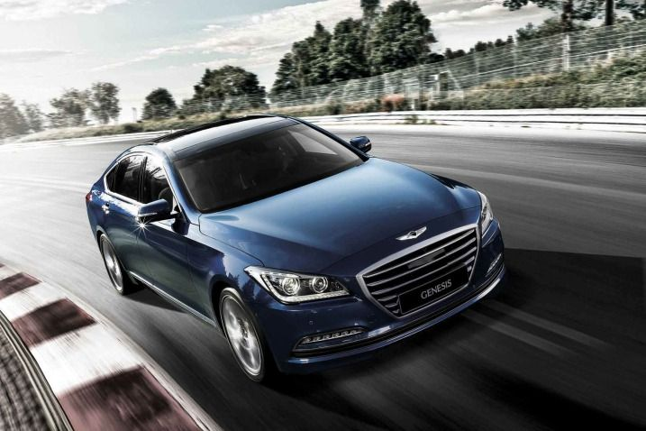 The shape of the grille on the redesigned 2015 Hyundai Genesis will be used on future Hyundai sedans.