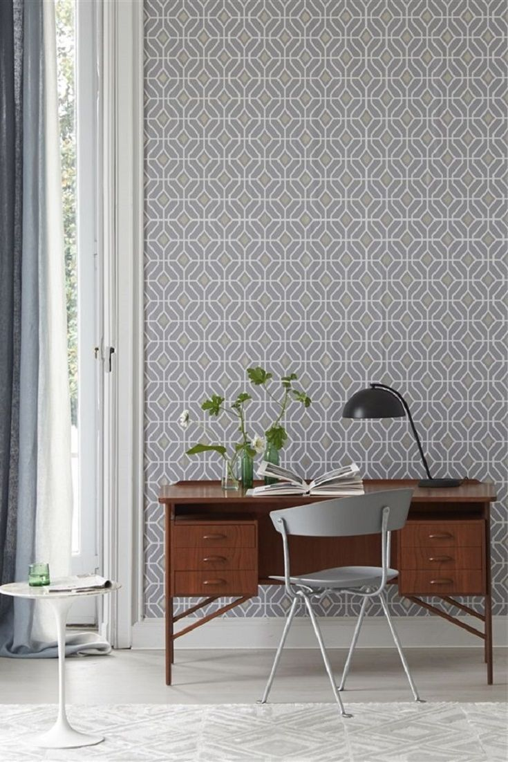 office wallpaper designs. this home office has been created using laterza by designers guild which is an elegant lattice inspired wallpaper design featuring a small scale trellis designs i