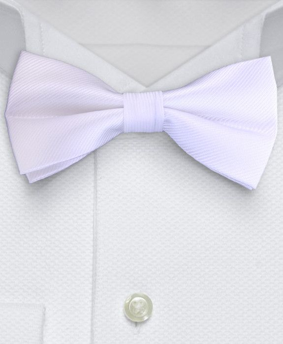 Bow Tie - Solid White Bow-tie