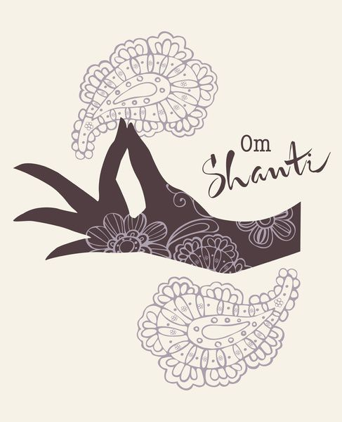 Om Shanti - is a mantra and mystical Sanskrit sound of Hindu origin