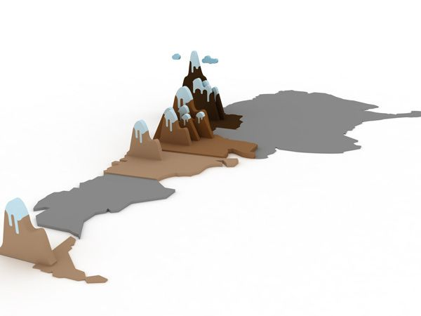 Best D Maps Images On Pinterest Low Poly Game Design And - Argentina 3d map