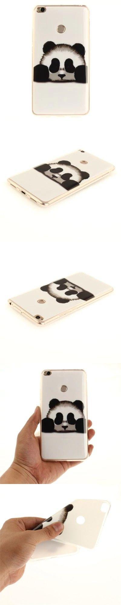 Panda Soft Clear IMD TPU Phone Casing Mobile Smartphone Cover Shell Case for Xiaomi Mi Max 2 -$2.74