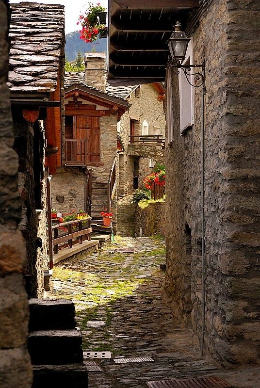 torgnon. aosta valley. italy.    Love this look at the old days!