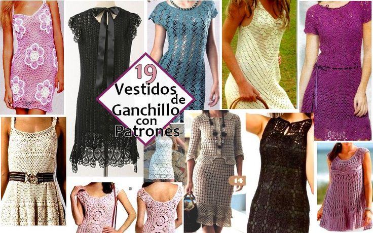 Aquí están algunos modelos de vestidos de ganchillo con sus gráficos libres. Vestidos Tejidos a mano, diseños originales de ropa de moda. Prendas originales y distinguidas.  LosVesti