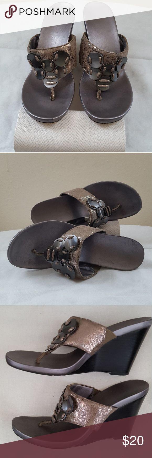 Calvin Klein Women's Sandals,  Size 8.5M Stunning wedges in good condition . Size 8.5M Calvin Klein Shoes Sandals