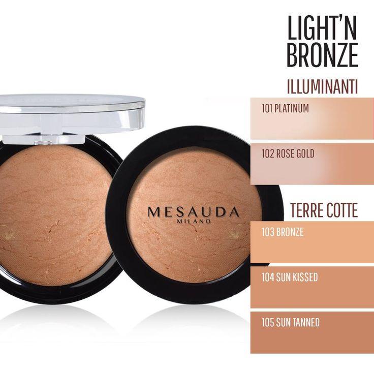 #MakeUp viso legger e luminoso per l' #estate con terra compatta e illuminante di Mesauda. Vieni a provarli.