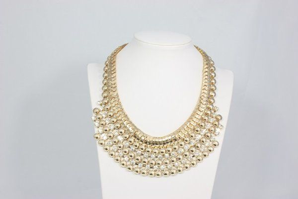 Gold Choker Necklace/ Bohemian Jewelry $18