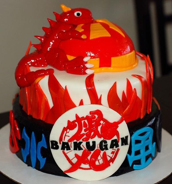 Fondant Bakugan Birthday Cake Mama Jenn S Cakes