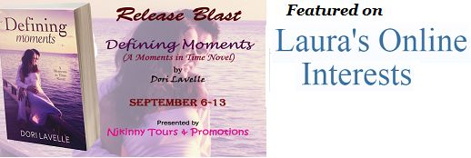 Laura's Online Interests features @DoriLavelle's book #DefiningMoments on her blog..Checkout the post and also enter to win a Kindle, $10 Amazon GC + the complete #MomentsIntime Novella collection!  http://dogsmomvisits.blogspot.in/2014/09/defining-moments-moments-in-time-love.html  #ReleaseBlast #Romance