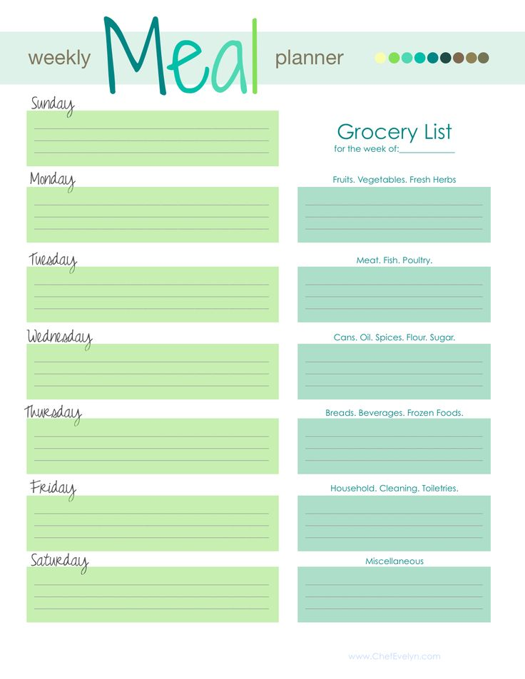 Более 25 лучших идей на тему «Meal planner template» на Pinterest - printable meal planner