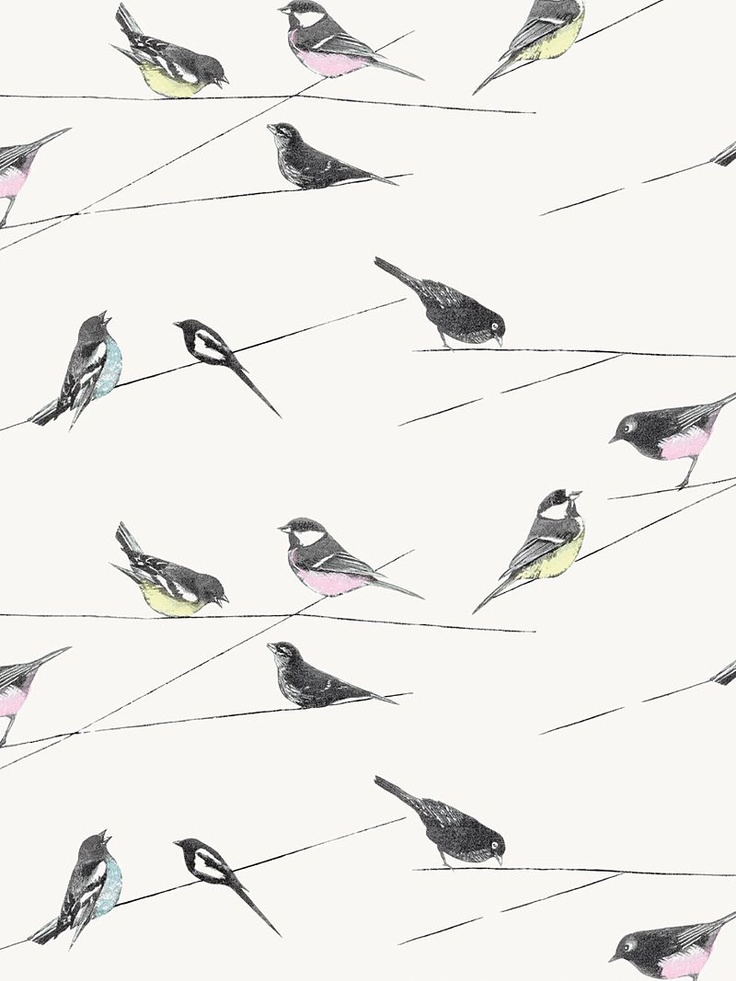Louise Body Garden Birds Fabric Linen Bird FabricLiving Room CurtainsCute