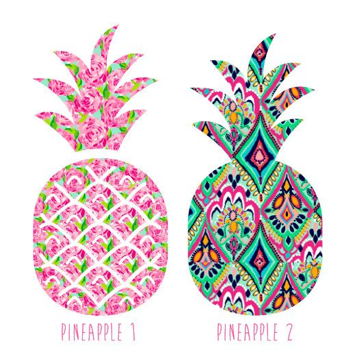 Monogrammed Pineapple Decal  Lilly Pulitzer by GinsMonogramShoppe