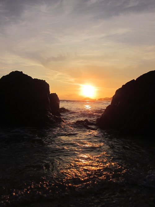 Sunset at KiLuan IsLand, Lampung, Indonesia