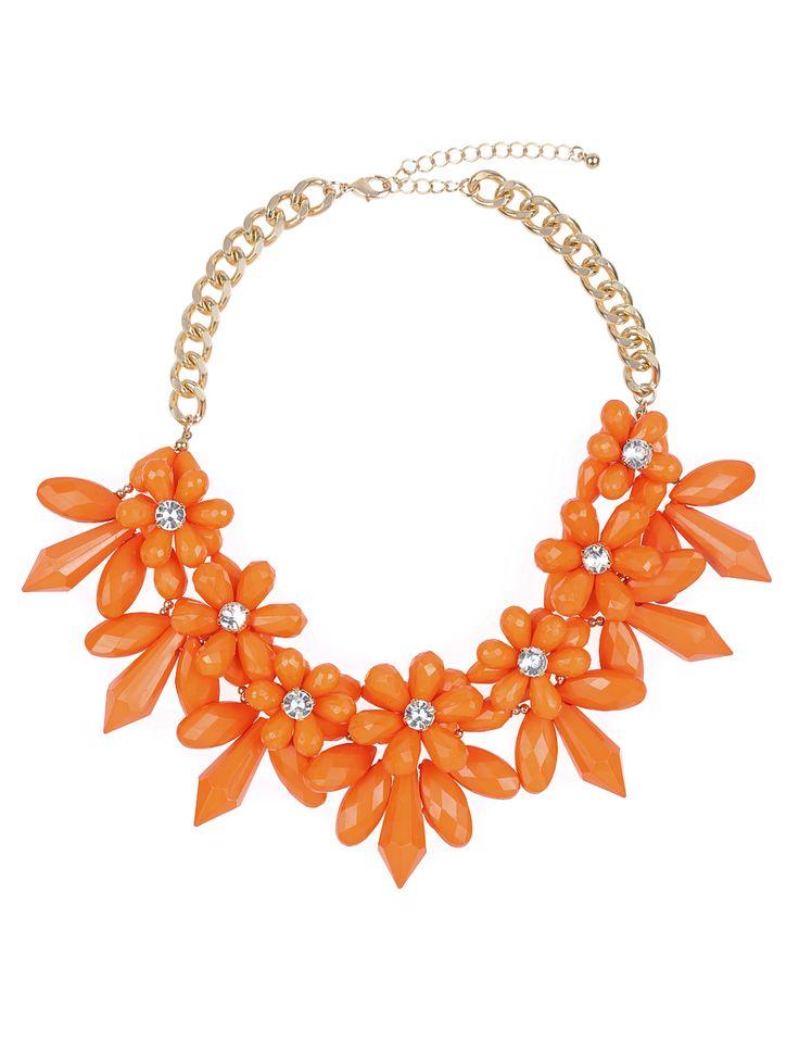 Floral Gem Necklace | Women's Plus Size Jewelry | ELOQUII