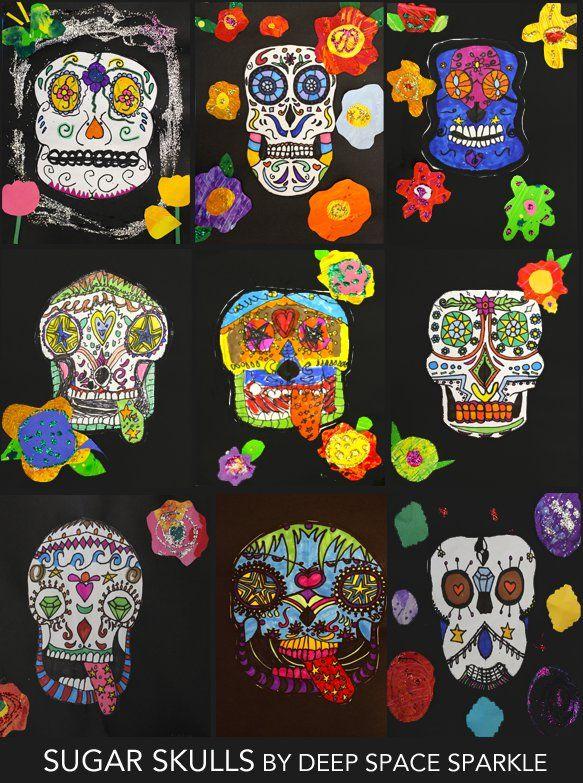 Sugar Skull Art Lesson for fifth grade