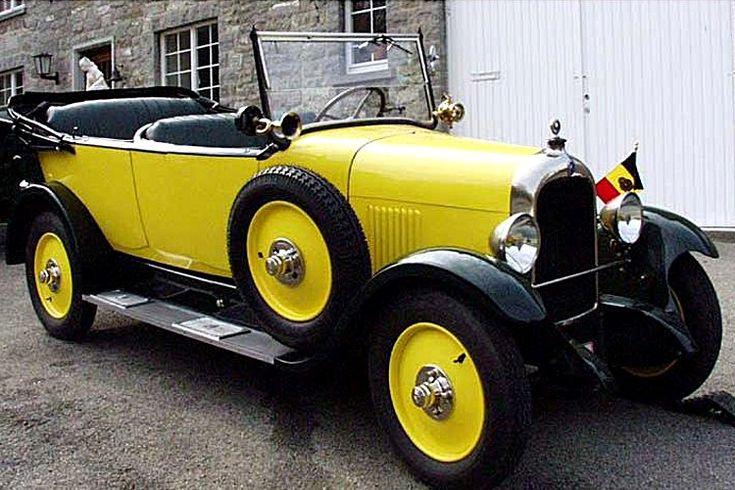 La Citroen Type B 14G, cette automobile de collection fut produite de 1926 à 1928, cette Citroen mesure 1.41 m de large, 4 m de long, et a un empattement de 2.87 m, des freins à tambours, cinq places, grand succès plus de 100 000 fabriquées.