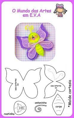 O Mundo das Artes em E.V.A.: Presentinho....  Butterfly