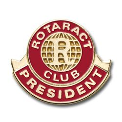 Russell-Hampton Co. Rotary Club Supplies: Rotaract President Lapel Pin