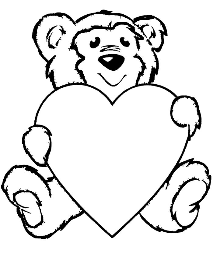 coloring pages teddy bear heart | 62 best Teddy Bears images on Pinterest | Kids net, Teddy ...