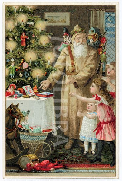 Vintage Father Christmas : 1890s Santa Claus, St. Nick, Father Christmas / - - - Bookmark Your Local 14 day Weather FREE > www.weathertrends360.com/dashboard No Ads or Apps or Hidden Costs