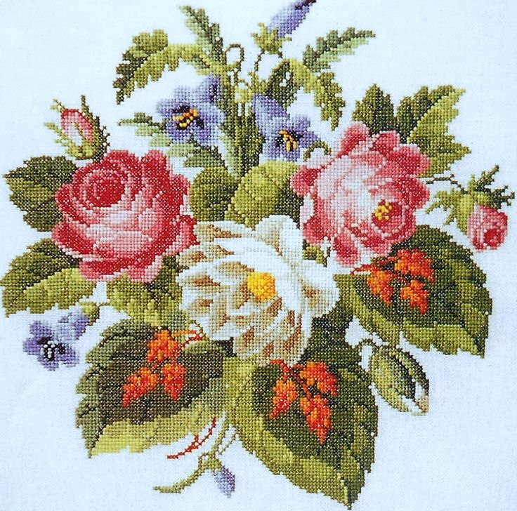 Permin Of Copenhagen ANTIGUE ROSES & Red by ThePamperedStitcher