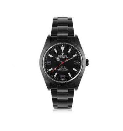 MAD Customized Watches Customized Rolex Explorer I Black SKI Men's Watch