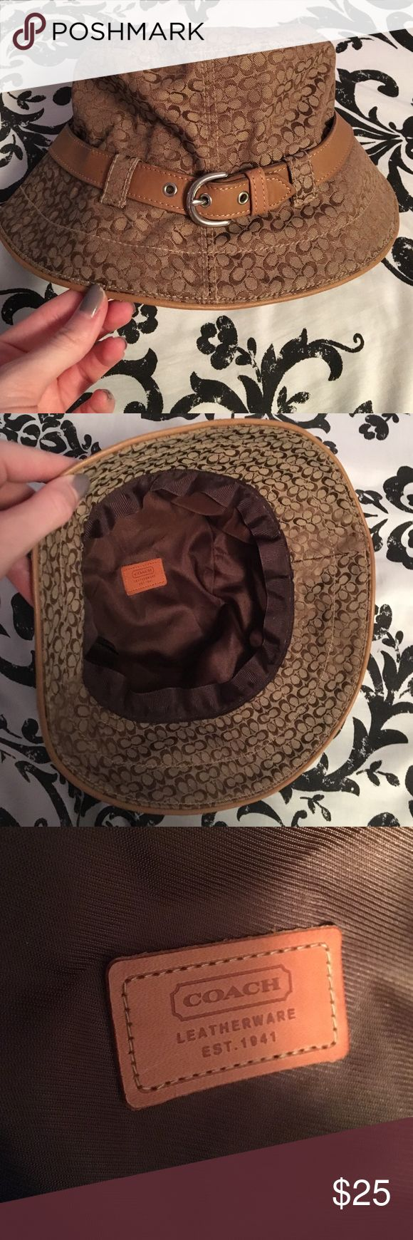 Coach Hat Authentic Coach hat with brown belt. New without tags. Coach Accessories Hats