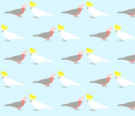 Galah- Cocky cockatoo. fabric by susie-lotta_designs on Spoonflower - custom fabric  Australian birds