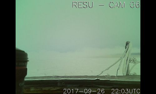 RESU -  CAM [06], located at The Resolute Bay Observatory US National Science Foundation research station, which is operated by SRI International.  The observatory is home to NSF's Resolute Bay Incoherent Scatter Radar - North (RISR-N), and the University of Calgary's RISR-C (Canada) radar. The twin radars point in opposite directions, RISR-N to the North and RISR-C to the South.     [ posted by mr. trona ]