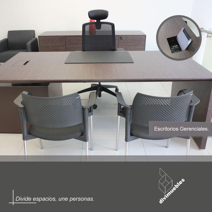 Conoce toda la linea de escritorios gerenciales y ¡modernízate!
