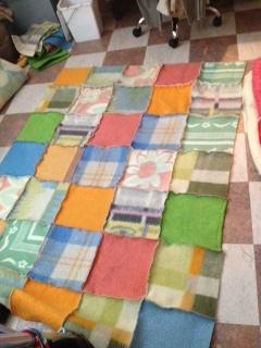 Lapjesdeken van vintage wollen dekens