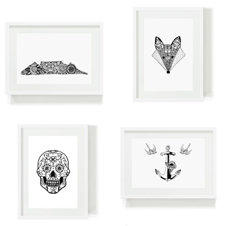 Our print collection are just the thing for hip and happening homes and creative work spaces. Buy them individually and frame them with a style and finish that suits your home. #artprints #fox #tablemountain #illustration