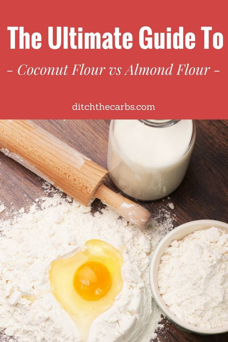 Coconut flour vs almond flour. See the 3 reasons why I am making the change to more coconut flour based recipes. | ditchthecarbs.com via @ditchthecarbs