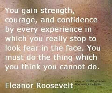Strong woman, Eleanor Roosevelt was.