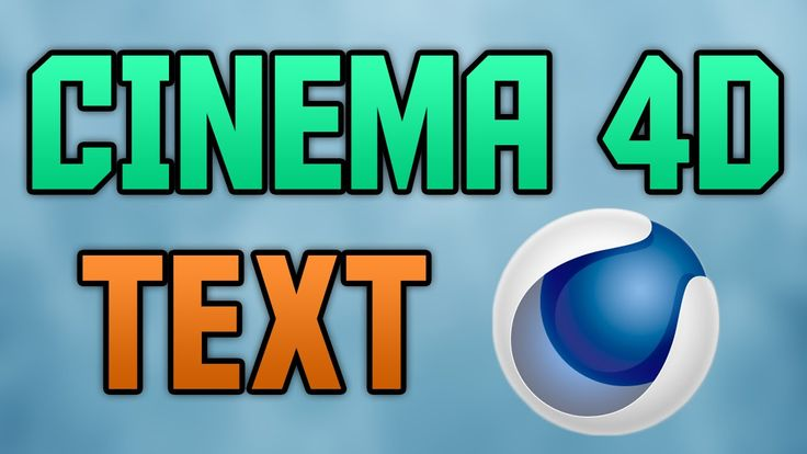 How To Make 3D Text In Cinema 4D R14 (EASY) 2015!