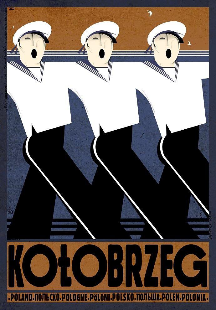 Kołobrzeg plakat z serii POLSKA Ryszard Kaja - 4191118424 ...